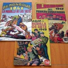 Tebeos: LA PANDILLA DE LOS SIETE, 3 ALMANAQUES 1947, 1948, 1949 - EDITORIAL VALENCIANA. Lote 38205617