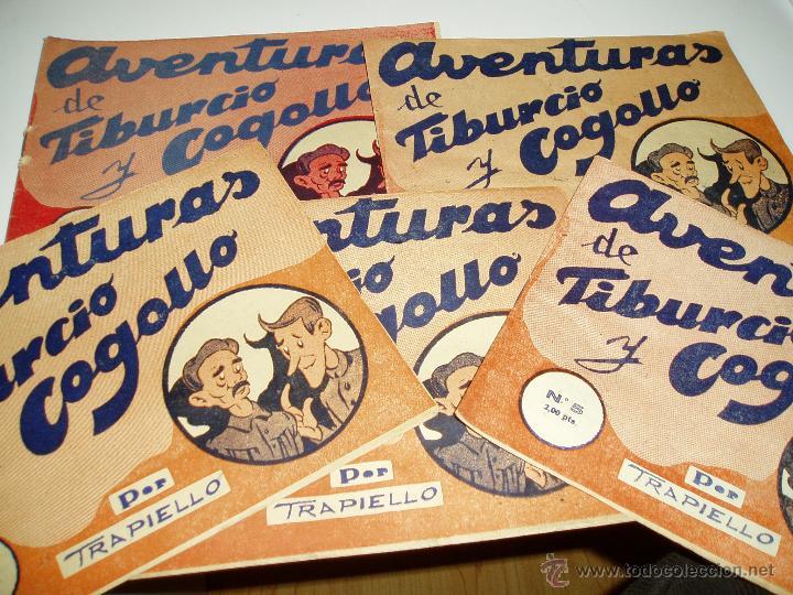 AVENTURAS DE TIBURCIO Y COGOLLO 5 EJEMPLARES COLECC. COMPLETA NUMERADA DEL 1AL5-AÑO1940-EXCLUSIVA- (Tebeos y Comics - Tebeos Almanaques)