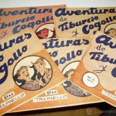 Tebeos: AVENTURAS DE TIBURCIO Y COGOLLO 5 EJEMPLARES COLECC. COMPLETA NUMERADA DEL 1AL5-AÑO1940-EXCLUSIVA-. Lote 39814690