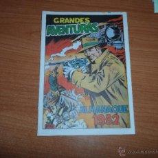 Livros de Banda Desenhada: GRANDES AVENTURAS ALMANAQUE DE 1952 EDICION FACSIMIL . Lote 40719563