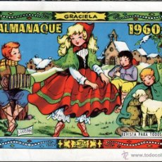 Tebeos: TEBEOS-COMICS GOYO - GRACIELA - ALMANAQUE 1960 - TORAY - 1ª EDICION *BB99. Lote 40839437