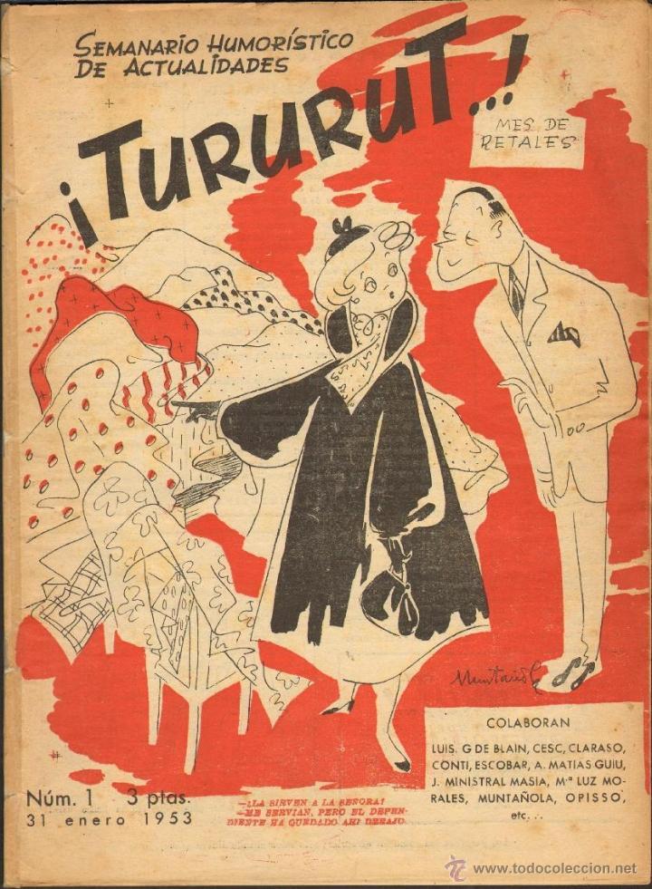TEBEOS-COMICS CANDY - TURURUT 1 - FOMENTO 1953 - ESCOBAR - MARTZ SCHMIDT - OPISSO - CONTI-ETC *AA99 (Tebeos y Comics - Tebeos Almanaques)