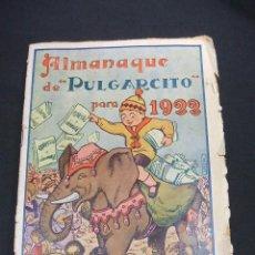 Tebeos: PULGARCITO - ALMANAQUE 1922 -. Lote 49524874