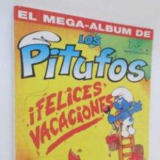 Tebeos: EL MEGA ALBUM DE LOS PITUFOS. Lote 49984190