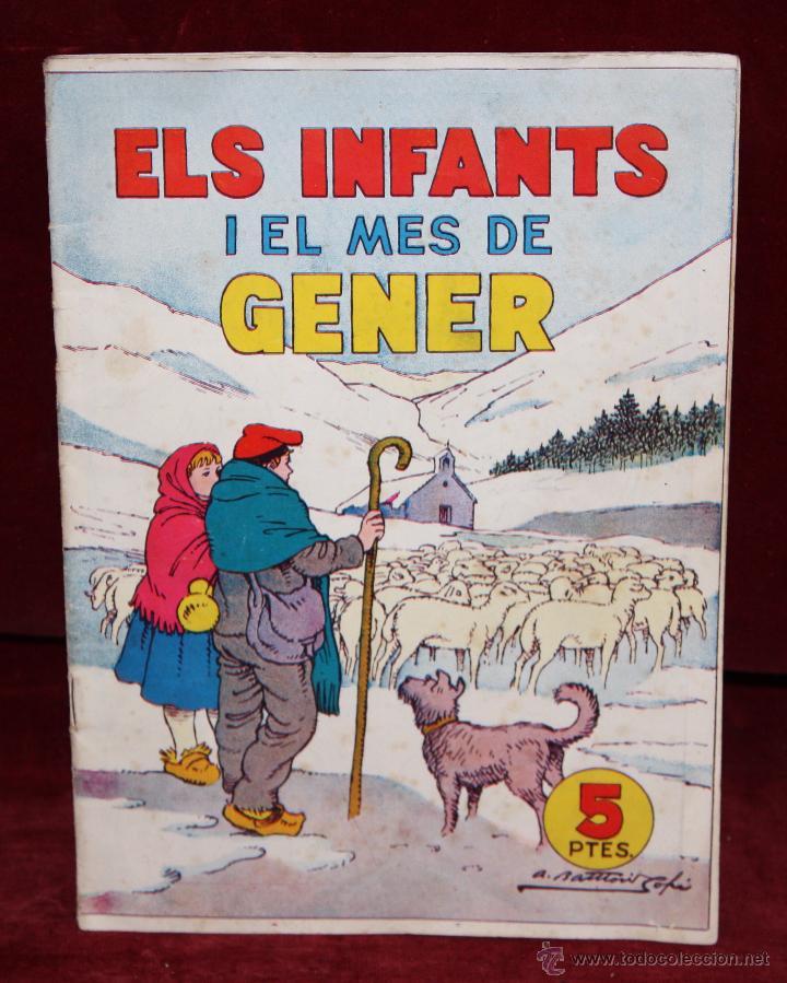 ELS INFANTS I EL MES DE GENER. HISPANO AMERICANA DE ED. AÑOS 50. (Tebeos y Comics - Tebeos Almanaques)