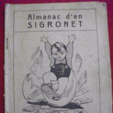 Tebeos: DIFICIL ALMANAQUE - ALMANAC D'EN SIGRONET 1925. Lote 50518432