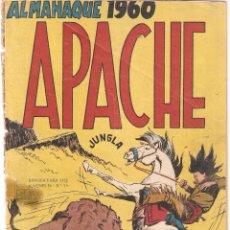 Tebeos: APACHE, ALMANAQUE AÑO 1.960. ORIGINAL, EDITORIAL MAGA.. Lote 54156000