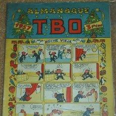 Tebeos: TBO ALMANAQUE 1957 - T B O - ORIGINAL EN MUY BUEN ESTADO - CON SU RECORTABLE DE EL BELEN. Lote 55897476