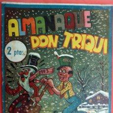 Tebeos: ALMANAQUE DON TRIQUI , 1944 , AMELLER EDITOR , ORIGINAL . J. Lote 56550446