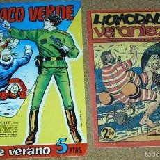 Tebeos: HUMORADAS VERANIEGAS CON LA BODA DEL JINETE FANTASMA-COSACO VERDE VACACIONES 1961-REED. LEER TODO. Lote 58225773