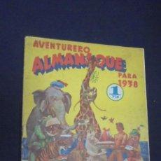 Tebeos: AVENTURERO - ALMANAQUE 1938 - HISPANO AMERICANA -. Lote 59514403