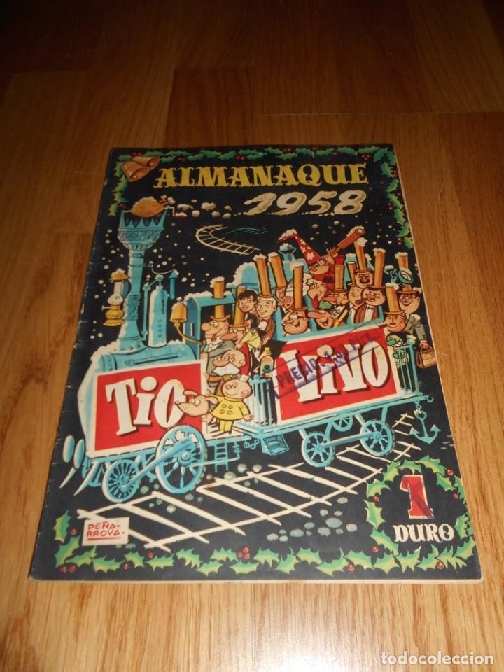 TEBEO COMIC BRUGUERA ALMANAQUE TIO VIVO 1958 PERFECTO 1 DURO (Tebeos y Comics - Tebeos Almanaques)