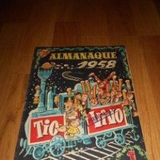 Tebeos: TEBEO COMIC BRUGUERA ALMANAQUE TIO VIVO 1958 PERFECTO 1 DURO. Lote 67325145