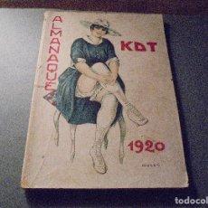 Tebeos: ALMANAQUE KDT 1920 , MUY ILUSTRADO ( PORTADA DE OPISSO INTERIOR BIGRE ) MENDEZ TAVAREZ, L.M. ETC . Lote 67957945
