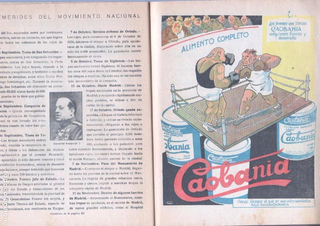 Tebeos: ALMANAQUE PELAYOS 1938 - 132 PGS. 21 X 17 CMS. - Foto 6 - 68617273