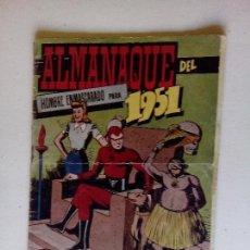 Tebeos: ALMANAQUE , EL HOMBRE ENMASCARADO1951- HISPANO AMERICANA . ORIGINAL. Lote 68749689