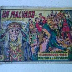 Tebeos: ALMANAQUE , MILTON EL CORSARIO 1958- Nº 47,VALENCIANA ,ORIGINAL . Lote 70216893