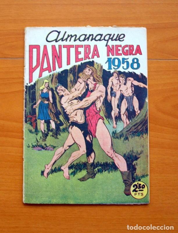 PANTERA NEGRA - ALMANAQUE 1958 - EDITORIAL MAGA (Tebeos y Comics - Tebeos Almanaques)
