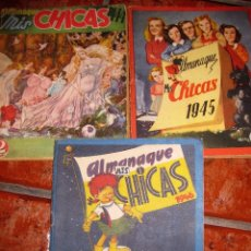 Tebeos: 3 ALMANAQUE CHICAS 1944 - 1945 - 1946 - REVISTA PARA JOVENES PUBLICIDAD MUÑECAS RECORTABLES. Lote 76684651