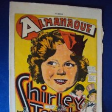 (COM-01)ALMANAQUE SHIRLEY TEMPLE AÑO 1937