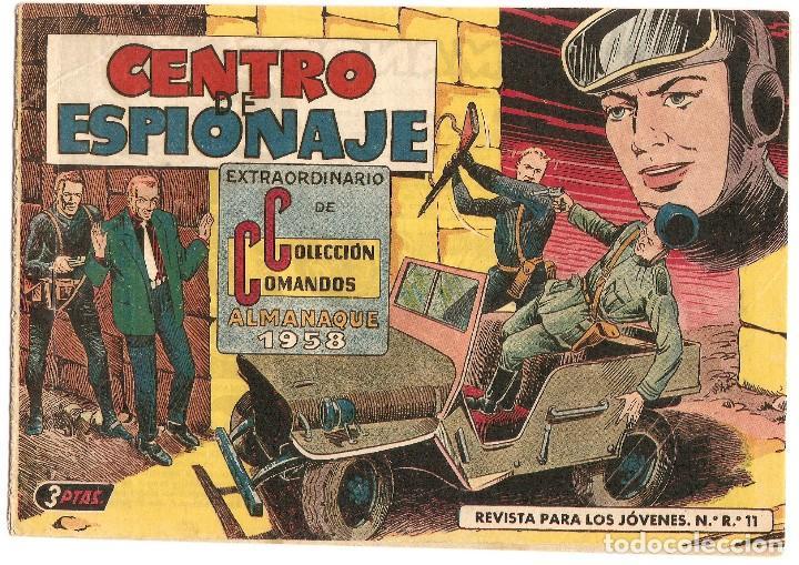 COLECCION COMANDOS ALMANAQUE 1958 - VALENCIANA (Tebeos y Comics - Tebeos Almanaques)