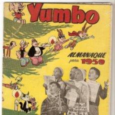 Tebeos: YUMBO, ALMANAQUE 1959, CLIPER / HISPANO A.- ORIGINAL- LEER. Lote 92058145