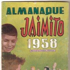 Tebeos: JAIMITO, ALMANAQUE 1958, ORIGINAL VALENCIANA. Lote 92059385