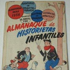 Tebeos: HISTORIETAS INFANTILES, ALMANAQUE 1955-56, TAPA DURA ORIGINAL -IMPORTANTE LEER DESCRIPCION. Lote 92059975