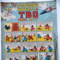 Tebeos: ALMANAQUE HUMORISTICO DEL TBO PARA 1977. Lote 94853239