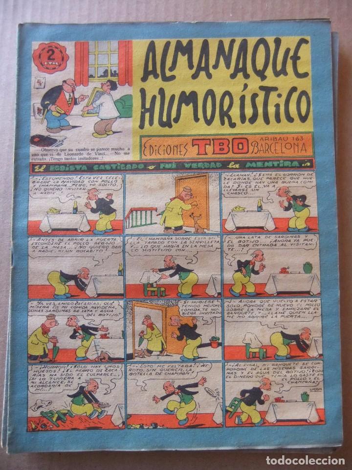 ALMANAQUE HUMORISTICO DE EDICIONES TBO PARA 1957 (Tebeos y Comics - Tebeos Almanaques)