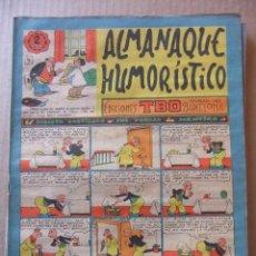 Tebeos: ALMANAQUE HUMORISTICO DE EDICIONES TBO PARA 1957. Lote 96089859