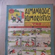 Tebeos: ALMANAQUE HUMORISTICO DE EDICIONES TBO PARA 1962. Lote 96090031