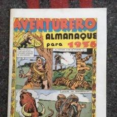 Tebeos: AVENTURERO ALMANAQUE PARA 1936 FACSIMIL D6. Lote 97390999