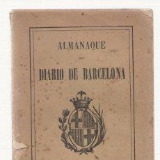 Tebeos: NUMULITE 2263 ALMANAQUE DIARIO DE BARCELONA 1908. Lote 100366623