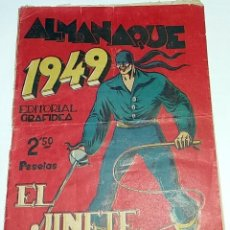 Tebeos: ALMANAQUE EL JINETE FANTASMA AÑO 1949 - ORIGINAL DE EPOCA. Lote 100461471