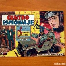 Tebeos: COLECCIÓN COMANDOS, Nº 21, CENTRO DE ESPIONAJE - ALMANAQUE 1958 - EDITORIAL VALENCIANA . Lote 101595351