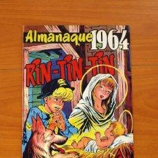 Tebeos: RIN-TIN-TIN - ALMANAQUE 1964 - EDITORIAL MARCO - TAMAÑO 26'5X18'5. Lote 101627935