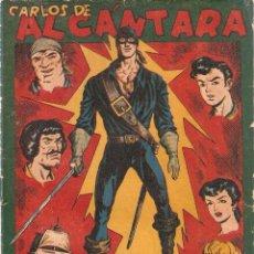 Tebeos: CARLOS DE ALCÁNTARA, ALMANAQUE PARA 1.956. ORIGINAL DIBUJOS. L. ORTIZ. EDITORIAL MAGA.. Lote 106978543