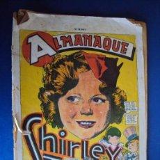 Tebeos: (COM-171201)ALMANAQUE SHIRLEY TEMPLE AÑO 1937. Lote 107004571