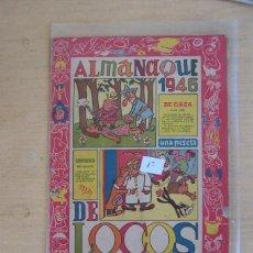 Tebeos: ALMANAQUE 1.946. DE LOCOS ORIGINAL. EDITORIAL VALENCIANA.. Lote 107778883