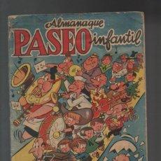 Tebeos: PASEO INFANTIL, ALMANAQUE 1.957. ORIGINAL. GRÁFICAS GUADA. S. R. C.. Lote 107829031