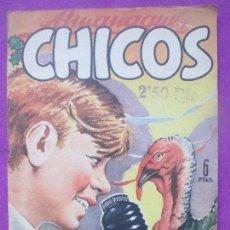 Tebeos: ANTIGUO TEBEO ALMANAQUE CHICOS 1949 ORIGINAL. Lote 111609627