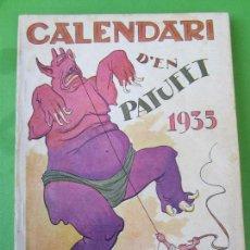 Tebeos: CALENDARI D´EN PATUFET , 1935. Lote 115167063