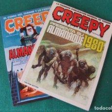 Tebeos: GREEPY ALMANAQUES PARA 1980 Y 1981 TOUTAIN EDITOR. Lote 118785663