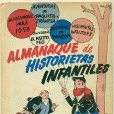 Tebeos: ALMANAQUE HISTORIAS INFANTLES 1955-56 ORIGINAL. Lote 126328299