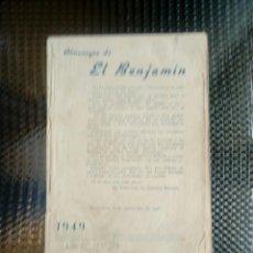 Tebeos: ALMANAQUE EL BENJAMIN 1949 (M-3). Lote 128156343