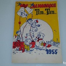 Tebeos: ANTIGUO TEBEO COMIC ALMANAQUE TIN TAN 1955 RARO. Lote 128484307
