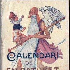 Tebeos: CALENDARI DE EN PATUFET 1921. Lote 130102539