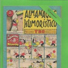 Tebeos: TBO - EXTRA Nº 16 - ALMANAQUE HUMORÍSTICO PARA 1952 - EL INGENIOSO RICARDITO - BUIGAS. (1951).. Lote 132031786