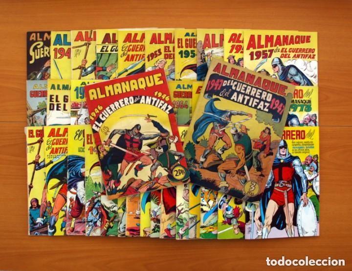 ALMANAQUES, EL GUERRERO DEL ANTIFAZ - COMPLETA - 37 EJEMPLARES - LEER DENTRO Y VER FOTOS ADICIONALES (Tebeos y Comics - Tebeos Almanaques)